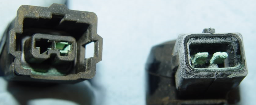 Corroded electrical terminals